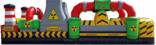 Inflatable Toxic Obstacle Course Rental